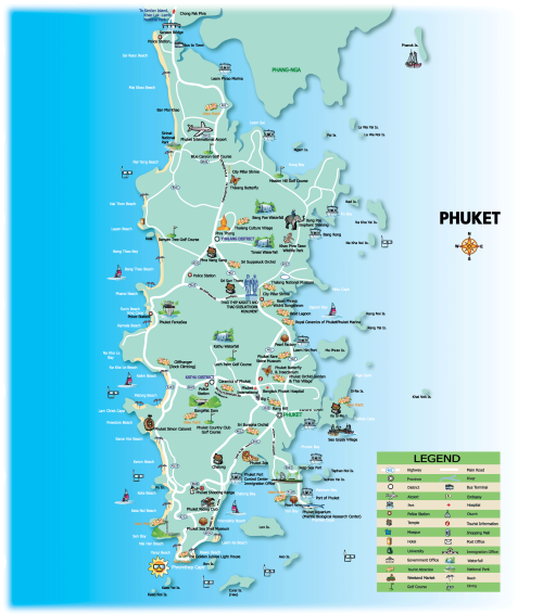 Phuket Tourism Map