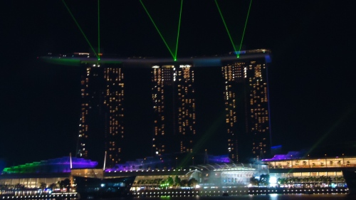 Marina Bay Sand Laser and Water Fall Show